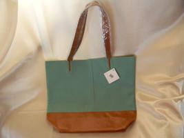Nordstrom Tan Teal Shopping Tote Purse Bag NWT - $25.73