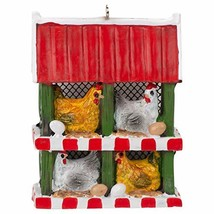 Midwest-CBK Chicken Coop with Chickens and Eggs Ornament - $10.84