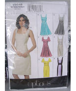 Vogue Pattern 8648 Misses Lined Dress in Several Variations Sizes 6-12 - $9.99