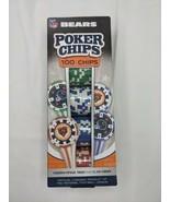 NFL Chicago Bears Poker Chips 100 Chips Sealed - $9.86