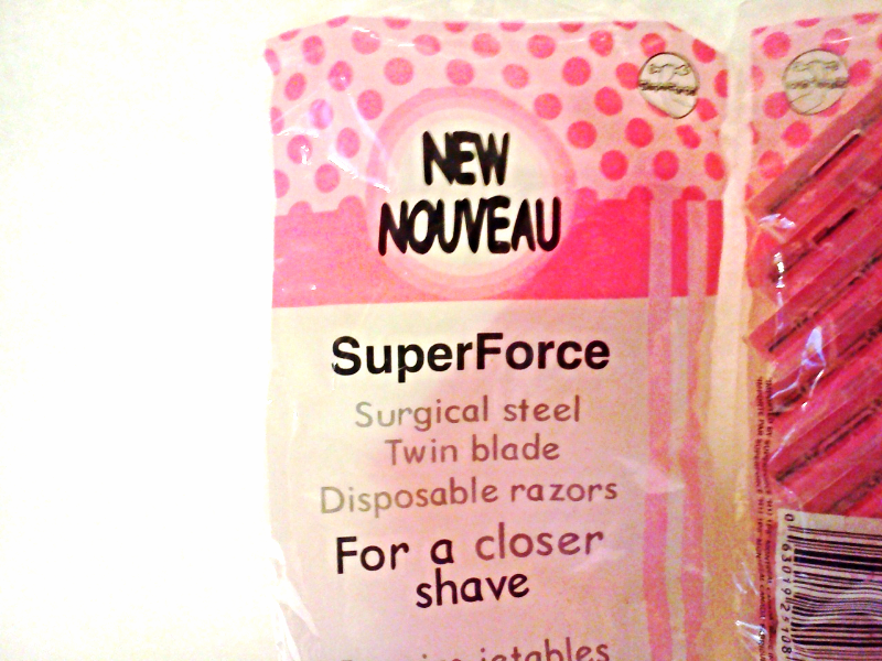 New Women's SuperForce Surgical Steel Twin Blade Disposable Razors (2) 12 Packs