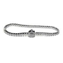 New All Around Halo Cubic Zirconia Tennis Bracelet Bridalnew All Around Cubic... - $49.49