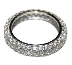 PAVE DOME ETERNITY CUBIC ZIRCONIA WEDDING BAND RING - $39.99