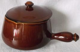 Handled Bean Pot 2 Qt. Chili Soup Large Lidded Handled Oven Proof Stonew... - $42.98