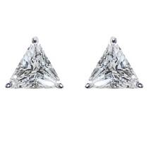 Triangle Shape Clear Cubic Zircionia  Stud Earrings 10 Mm Of Bling - $9.90