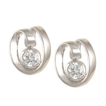 Casual Every Day 1 Ctw Clear Cubic Zirconia Stud Earrings Bridal - $19.79