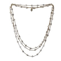 New 14 K Gold Plated Cubic Zirconia  By The Yard Necklace 60 Inch With 5 Mm Cz's - $94.05