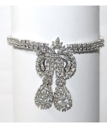 YOUR SPECIAL DAY MIXED CZ BRIDAL TENNIS DANGLE CHARM CLUSTER BRACELET - $127.71
