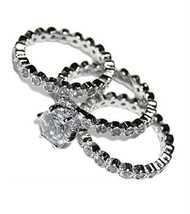 Bezel Set All Around Clear Cubic Zirconia Triple Ring Set - $49.99