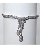 ONE OF A KIND MIXED CZ BRIDAL WEDDING TENNIS DANGLE CLUSTER BRACELET - $78.21
