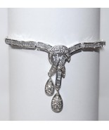 "ONE OF A KIND MIXED CZ BRIDAL WEDDING TENNIS DANGLE CLUSTER BRACELET 8"" - $78.21"