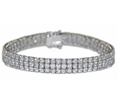 """The Look Of Real Babies Childrens 3 Row Cz Dance Moms Bracelet  Bridal  6"""" - $59.39"""