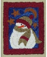 Midnight Snowman Punchneedle kit Rachel's of Greenfield - $13.50