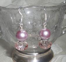 Elegant Pearlized and Crystal Beaded Earrings - $10.00