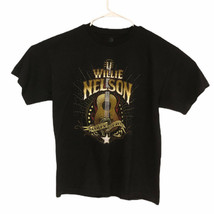 Willie Nelson Outlaw Country Short Sleeve Black TShirt Size XL Zion Root... - $6.61