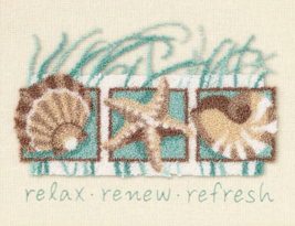 Sea Shells Punchneedle kit Dimensions - $15.30