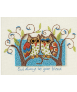 Owl Always Be Your Friend Punchneedle kit Dimensions - $15.30