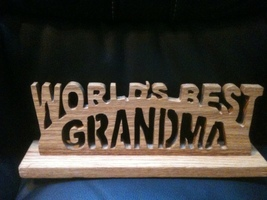 Wooden worlds best grandma sign display - $60.00