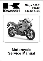 09-12 Kawasaki Ninja 650R / ER-6f / ER-6f ABS Service Repair Manual CD .. 650 R - $12.00