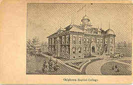Baptist College Blackwell Oklahoma 1913 Vintage Post Card - $6.00