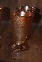 Set of 4 Vintage Jeanette Glass Marigold Crackle Sherbert or Tumbler - $25.00