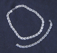 Vintage Danecraft Sterling Silver Necklace and Bracelet Set - $150.00