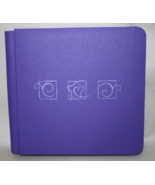 Creative Memories Purple Scrapbook 7 x 7 Embossed w/ Stars and Swirls 48... - $21.95