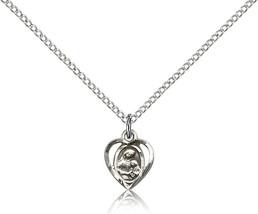 Women's Bliss Small Sterling Silver Patron Saint Ann Medal Pendant 5405SS/18SS - $43.00