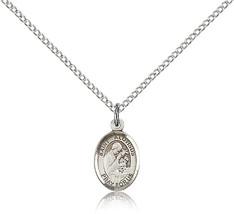 Bliss Small Sterling Silver Patron Saint Aloysius Gonzaga Medal Pendant For W - $42.50