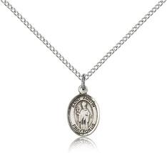 Women's Bliss Small Sterling Silver Patron Saint Austin Medal Pendant  - $42.50