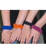 Bangle Bracelets Crochet Homemade 10 lot Party Favors Different Colors - $8.97