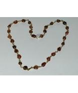 Carnelian Agate Geode Necklace Vintage - $24.97