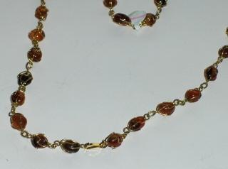 Carnelian Agate Geode Necklace Vintage