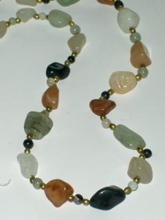 Agate Geode Multi Natural Stone Necklace Vintage