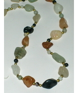 Agate Geode Multi Natural Stone Necklace Vintage - $29.97