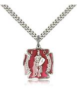 Men's Bliss Sterling Silver Patron Saint Florian Medal Pendant Necklace ... - $55.50
