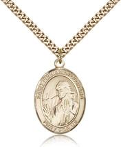 Men's Bliss Gold Filled Patron Saint Finnian of Clonard Medal Pendant  - $132.50