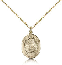 Women's Bliss Gold Filled Patron Saint Frances Cabrini Medal Pendant  - $100.50