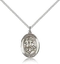 Women's Bliss Sterling Silver Patron Saint George Medal Pendant  - $49.50