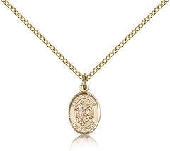 Women's Bliss Small Gold Filled Patron Saint George Medal Pendant  - $62.00