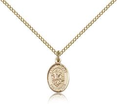 Women's Bliss Small Gold Filled Patron Saint George Medal Pendant  - $1.424,05 MXN