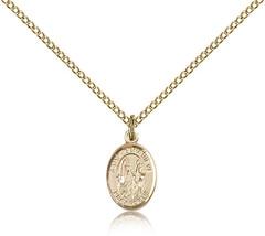 Women's Bliss Small Gold Filled Patron Saint Genevieve Medal Pendant  - $62.00