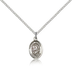 Women's Bliss Small Sterling Silver Patron Saint George Medal Pendant  - $42.50