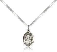Bliss Small Sterling Silver Patron Saint Gemma Galgani Medal Pendant For Wome - $42.50