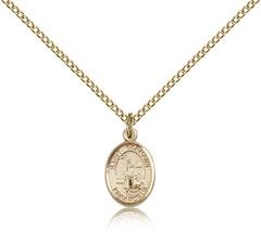 Women's Bliss Small Gold Filled Patron Saint Germaine Cousin Medal Pendant  - $62.00