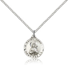 Women's Bliss Small Sterling Silver Patron Saint Jude Medal Pendant 5651SS/18SS - $48.00