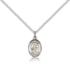 Bliss Small Sterling Silver Patron Saint Jane of Valois Medal Pendant For Wom - $42.50