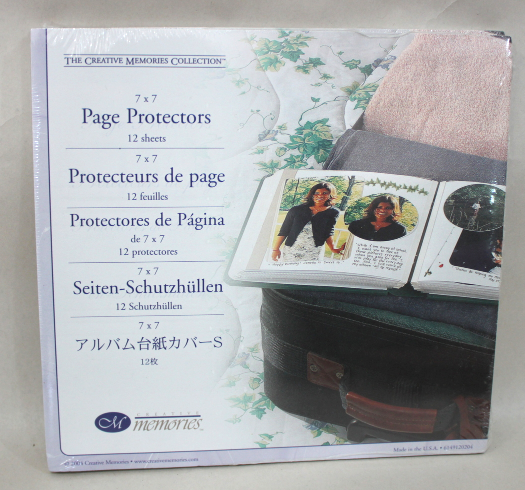 Creative Memories 7x7 Clear Page Pocket Protectors (12 Sheets)