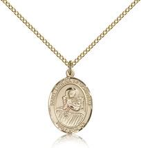 Women's Bliss Gold Filled Patron Saint Lidwina of Schiedam Medal Pendant  - $100.50