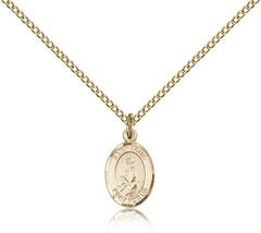 Women's Bliss Small Gold Filled Patron Saint Louis Medal Pendant  - $62.00